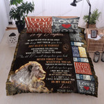 Personalized Lion To My Daughter I Love You To The Moon And Back I'll Always Love You Cotton Bed Sheets Spread Comforter Duvet Cover Bedding Sets
