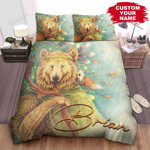 Personalized Native American Bear Vintage Vibe Painting Bed Sheets Spread Comforter Duvet Cover Bedding Sets