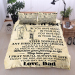 Personalized Family Dad To Son You Can Steer Yourself In Any Direction Cotton Bed Sheets Spread Comforter Duvet Cover Bedding Sets