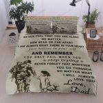 Personalized Soldier To My Daughter Never Feel That You are Alone I Am Always Right There In Your Heart I'll Always Love You Cotton Bed Sheets Spread Comforter Duvet Cover Bedding Sets
