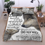 Personalized Wolf To My Daughter From Dad I Love You More Than You Know Cotton Bed Sheets Spread Comforter Duvet Cover Bedding Sets