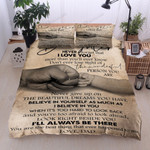 Personalized Family To My Daughter I'll Always Be There From Dad Cotton Bed Sheets Spread Comforter Duvet Cover Bedding Sets