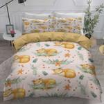 Cute Fox Sleeping Cotton Bed Sheets Spread Comforter Duvet Cover Bedding Sets