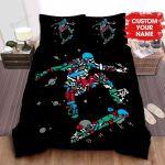 Personalized Skateboarding Equipment Pattern Bed Sheets Spread Comforter Duvet Cover Bedding Sets