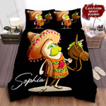 Personalized Burrito Cartoon Character In Sombrero Hat Bed Sheet Spread Comforter Duvet Cover Bedding Sets