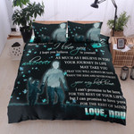 Personalized Family From Dad To Son I Hope You Believe In Yourself Cotton Bed Sheets Spread Comforter Duvet Cover Bedding Sets