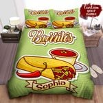 Personalized Burrito With Chili And Sauce Illustration Bed Sheet Spread Comforter Duvet Cover Bedding Sets