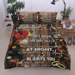 Personalized Family To My Wife All The Time Night, Morning In The Middle Of The Day I'm Always Think About You I Love You Cotton Bed Sheets Spread Comforter Duvet Cover Bedding Sets