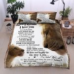 Personalized Lion To My Dad From Daughter Thank You For Putting Me First Cotton Bed Sheets Spread Comforter Duvet Cover Bedding Sets