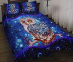 Owl  Quilt Bed Sheets Spread Comforter Duvet Cover Bedding Sets