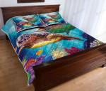 Turtle Couple Quilt Bed Set