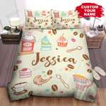 Personalized Coffee Day Illustration Bed Sheets Spread Comforter Duvet Cover Bedding Sets