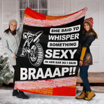 Motocross She Said To Whisper Something Sexy Fleece Blanket Great Customized Blanket Gifts For Birthday Christmas Thanksgiving