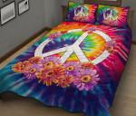 Hippie Peace Quilt Bed Set