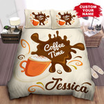 Personalized Coffee Time Illustration Bed Sheets Spread Comforter Duvet Cover Bedding Sets