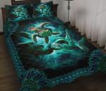 Turtle Mandala Pattern Quilt Bed Sheets Spread Duvet Cover Bedding Sets