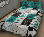 Yorkies Dog Pattern Quilt Bed Set