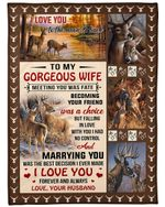 Personalized Family To My Gorgeous Wife Meeting You Was Fate, I Love You Forever And Always Sherpa Fleece Blanket