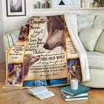 Personalized To My Daughter I Hope You Believe In Yourself Wolf Dad And Daughter Sherpa Fleece Blanket Great Customized Blanket Gifts For Birthday Christmas Thanksgiving