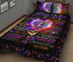 To My Wife Thank You For Being A Great Life Partner Quilt Bed Set