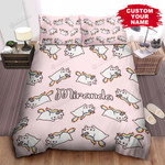 Kitty Unicorn Bed Sheets Spread Comforter Duvet Cover Bedding Sets