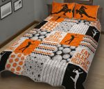 Eat Sleep Volleyball Pattern Quilt Bed Set