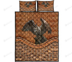 Owl Bamboo Basket Style Quilt Bed Set