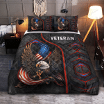 Veteran Eagle American Quilt Bedding Set