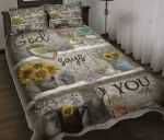 Flower God Says You Are Quilt Bed Set