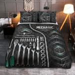 Mechanic Carbon Pattern Quilt Bedding Set