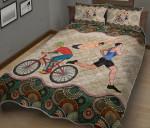 Triathletes Vintage Mandala Quilt Bed Set