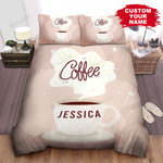 Personalized Warm Coffee Cup Digital Art Bed Sheets Spread Comforter Duvet Cover Bedding Sets