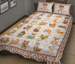 I Love My Akita Quilt Bed Sets