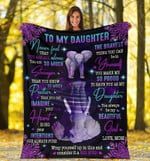 Personalized Elephant To My Daughter From Mom Fleece Sherpa Blanket Great Customized Blanket Gift For Birthday Christmas Thanksgiving Anniversary
