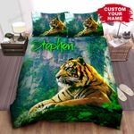Tiger In The Forest Bed Sheets Spread Comforter Duvet Cover Bedding Sets