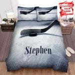 Ice Hockey Stick And Puck On Field Bed Sheets Spread Comforter Duvet Cover Bedding Sets