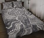 Elephant Monochrome Style Quilt Bedding Set