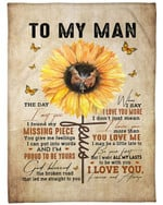 Personalized To My Man I Love You  Fleece Sherpa Blanket Great Customized Blanket Gift For Birthday Christmas Thanksgiving Anniversary