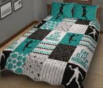 Handball Shape Pattern Dark Green Quilt Bed Sheets Spread Duvet Cover Bedding Sets