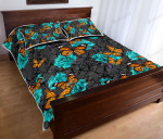 Butterfly Rose Flowers Quilt Bed Set