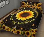 Bengal Cat Sunflower Quilt Bed Set