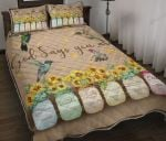 Hummingbird God Says You Are Quilt Bed Set