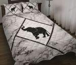 Elephant Marble Luxury Quilt Bedding Set