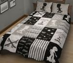 Skateboarding Kid Gray Quilt Bed Set