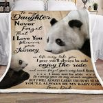 Personalized Panda To My Daughter Never Forget That I Love You Sherpa Fleece Blanket From Dad Great Customized Blanket Gifts For Birthday Christmas Thanksgiving Anniversary