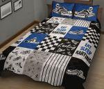 Eat Sleep Kart Racing Blue Quilt Bed Set