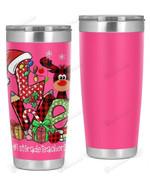 1st Grade Teacher - Christmas Tartan Pattern With Reindeer  Stainless Steel Tumbler Cup For Coffee/Tea