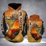 Rooster Ranch Grass 3d Hoodie