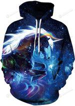 Cosmic Galaxy 3d Hoodies