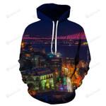 Istanbul At Night 3D All Over Print Hoodie, Zip-up Hoodie